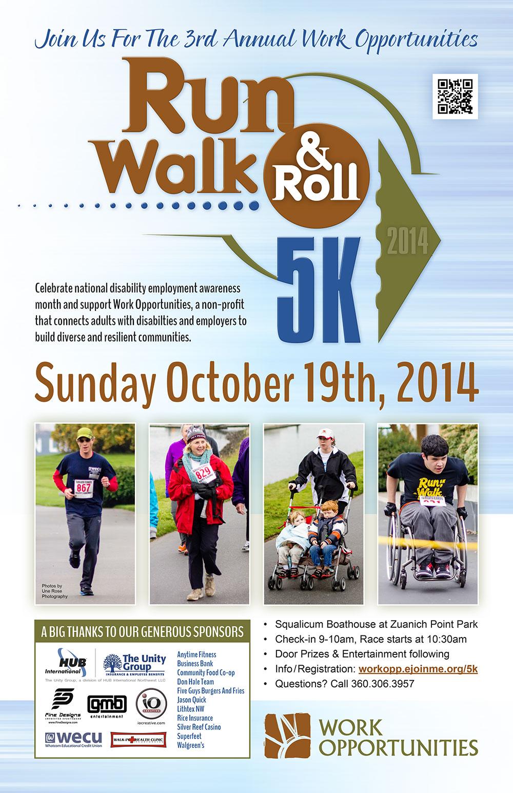 5k poster design - Run Walk Roll 5k Poster Design